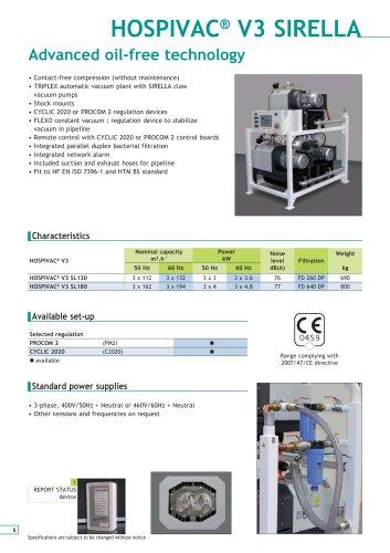 OIL-LESS HOSPIVAC V