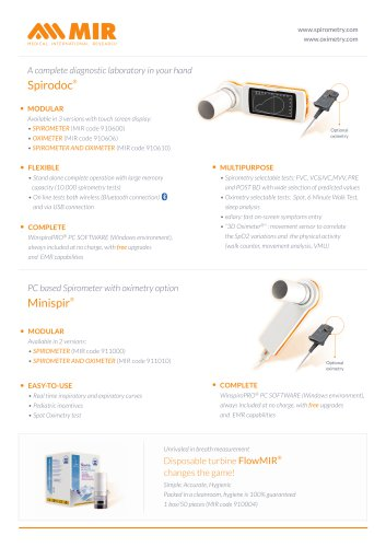 A complete diagnostic laboratory in your hand Spirodoc®