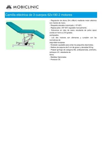 Camilla eléctrica de 3 cuerpos 62x190 2 motores