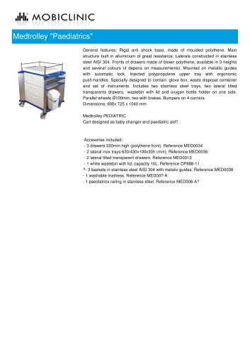 "Medtrolley ""Paediatrics"""