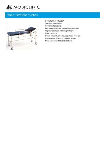 Patient stretcher trolley MO42