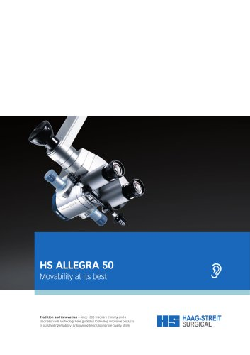 Brochure HS ALLEGRA 50