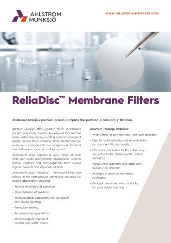ReliaDisc™ Membrane Filters
