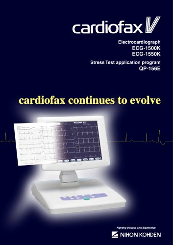 ECG-1500K, ECG-1550K cardiofax V Electrocardiograph, QP-156E Stress Test Application Program