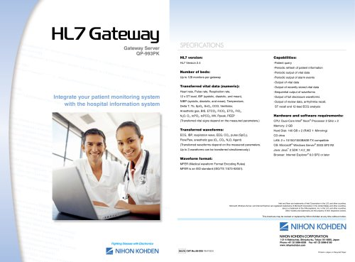 QP-993PK HL7 Gateway Server