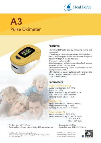 Heal Force Fingertip Pulse Oximeter A3