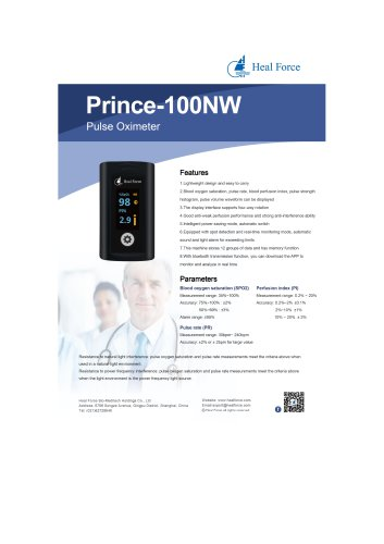 Heal Force Fingertip Pulse Oximeter Prince-100NW