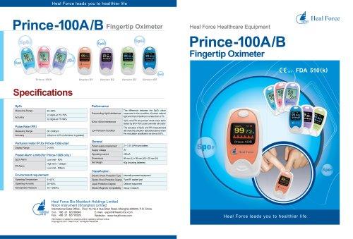 Prince-100A & B Fingertip Oximeter