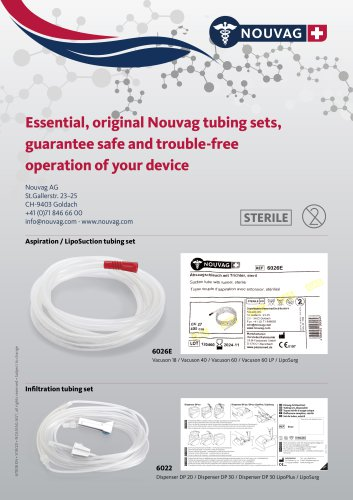 Essential Nouvag Tubing sets