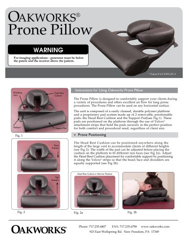 Oakworks Prone Pillow