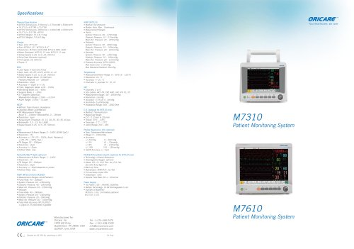 M7310 & M7610 Patient Monitoring System