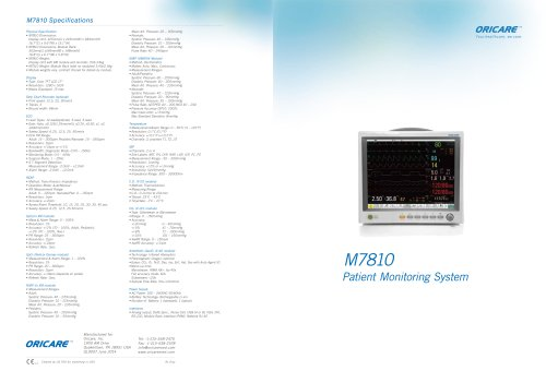 M7810 Patient Monitoring System