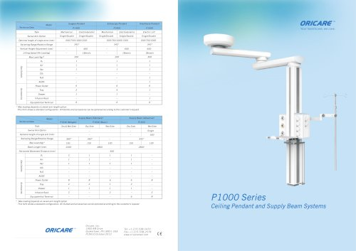 P1000 Series Ceiling Pendant Systems