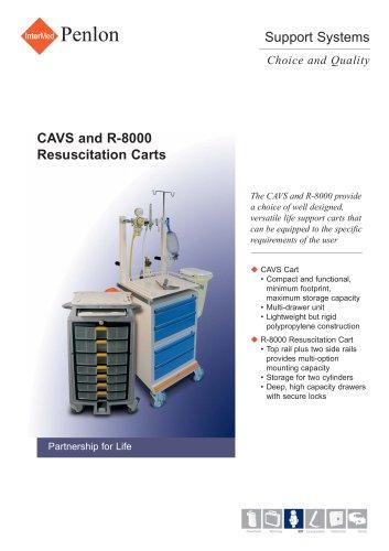CAVS and R-8000 Resuscitation Carts
