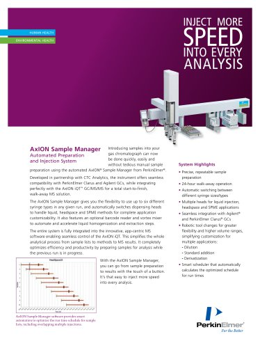 AxION Sample Manager Automated Preparation and Injection System