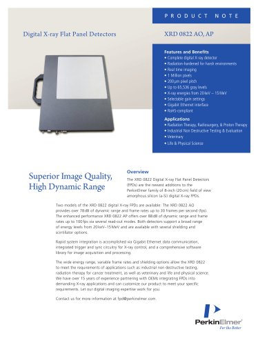 Digital X-ray Flat Panel Detectors