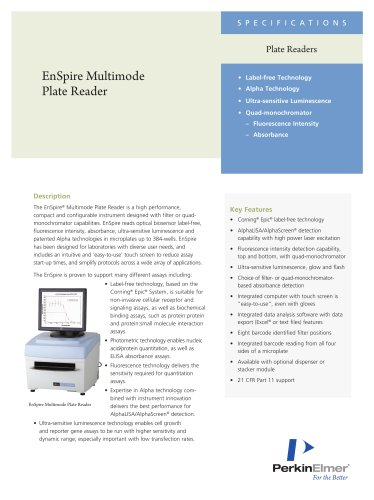 EnSpire Multimode Plate Reader