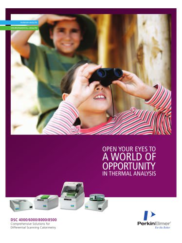 Open your eyes to a world of opportunity in Thermal Analysis