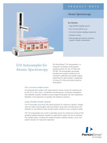 S10 Autosampler for Atomic Spectroscopy