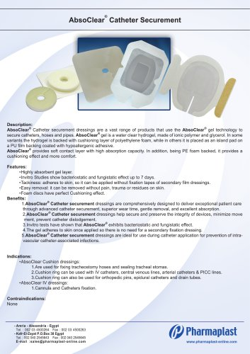 AbsoClear catheter Securement