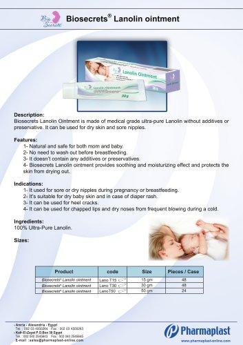 Biosecrets Lanolin Ointment brochure