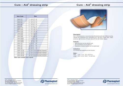 Cure – Aid® dressing strip Dermiplast