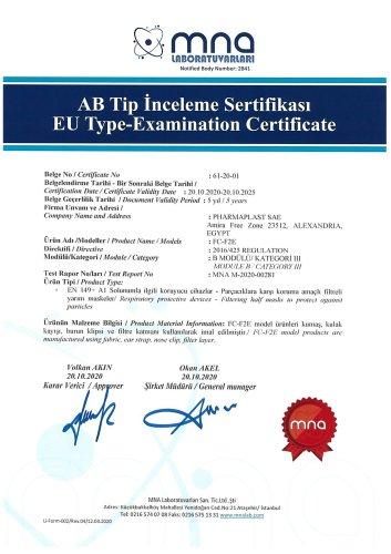 FFP2 Masks Folded Cup CE Certificate