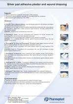 Silver pad adhesive plaster and wound dressing - 2