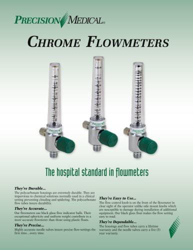 Chrome Flowmeter Brochure