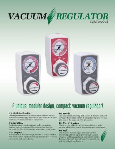 Continuous Vacuum Regulator Brochure