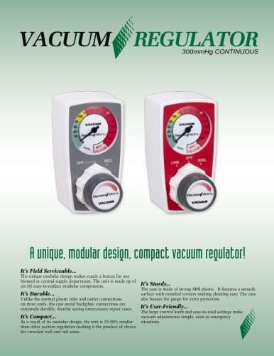 HiVac 300mmHg Continuous Vacuum Regulator Brochure