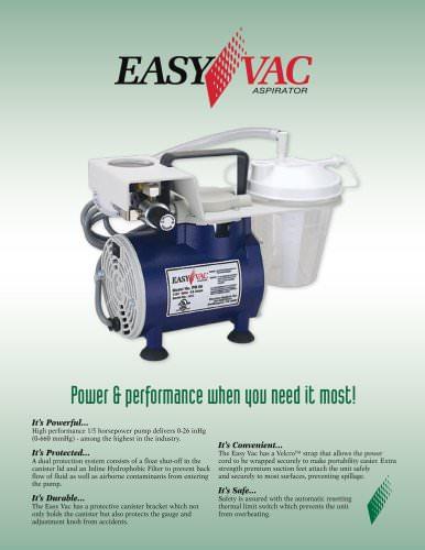 PM60 EasyVac Aspirator Brochure