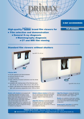 X-RAY ACCESSORIES FILM VIEWERS