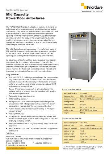 RSV EH230/350 datasheet