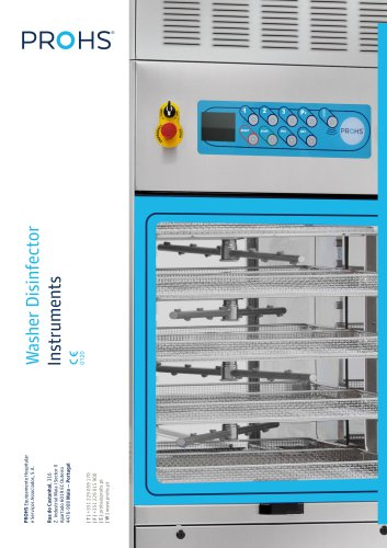 INSTRUMENTS WASHER DISINFECTOR
