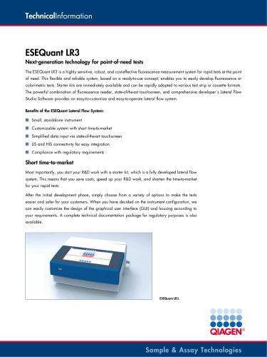 Technical Information ESEQuant LR3