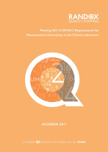 Meeting ISO 15189 Requirements