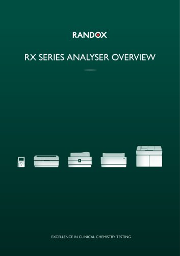 RX SERIES ANALYSER OVERVIEW