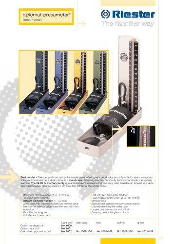 Mercure sphygmomanometer Diplomat