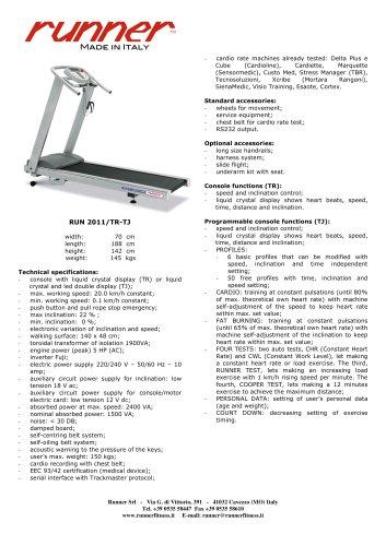 treadmill RUN 2011/TR-TJ