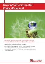 Sarstedt Environmental Policy Statement - 1
