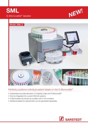 SML-3 S-Monovette® Labeler