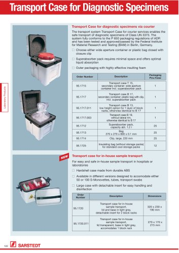 Transport Case for Diagnostic Specimens
