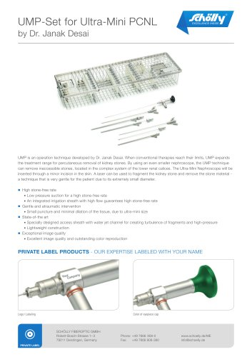 UMP-Set for Ultra-Mini PCNL