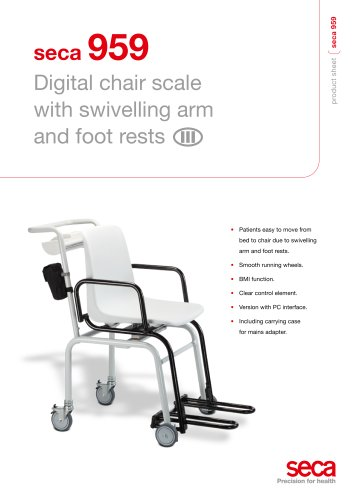 Digital chair scale seca 959