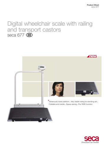 Digital wheelchair scale seca 677