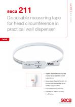 seca 211 Disposable measuring tape for head circumference in practical wall dispenser - 1
