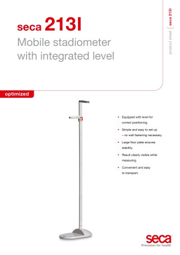seca 213l Mobile stadiometer with integrated level