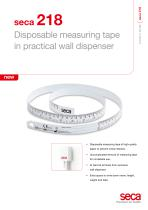seca 218 Disposable measuring tape in practical wall dispenser - 1