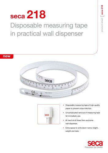 seca 218 Disposable measuring tape in practical wall dispenser